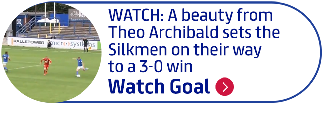 WATCH: A beauty from Theo Archibald sets the Silkmen on their way to a 3-0 win