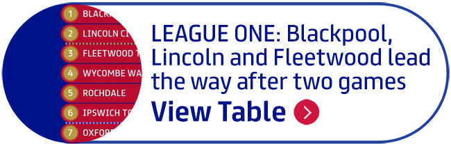 League One: Blackpool, Lincoln and Fleetwood lead the way after two games