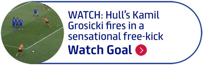 WATCH: Hull�s Kamil Grosicki fires in a sensational free-kick