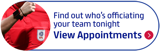 Find out who�s officiating your team tonight
