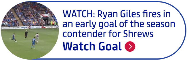 WATCH: Ryan Giles fires in an early goal of the season contender for Shrews