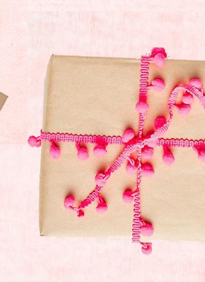 pink pom ribbon