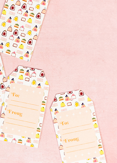 gift tags on shop