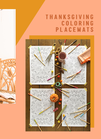 coloring placemats on shop