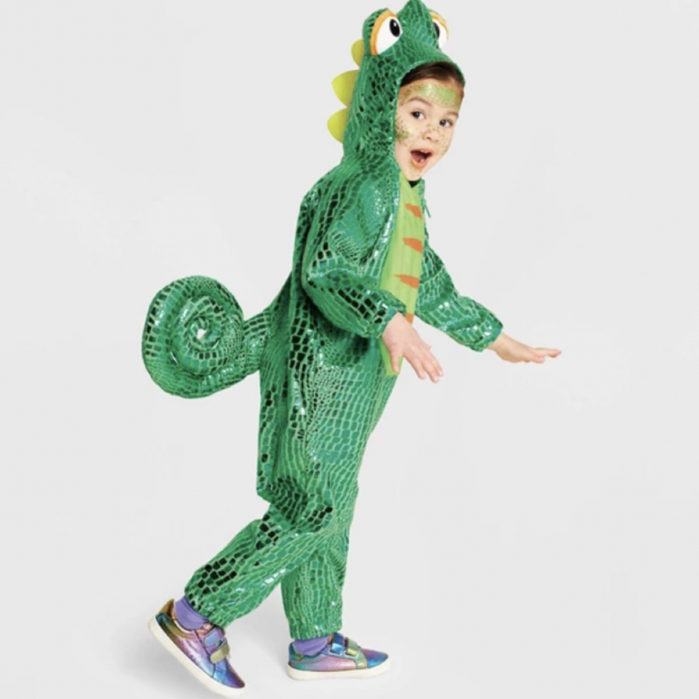 Toddler Plush Chameleon Halloween Costume