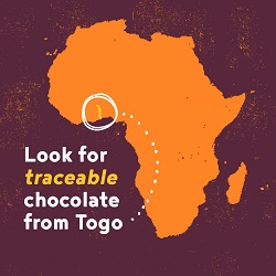 """Look for traceable chocolate from togo"""