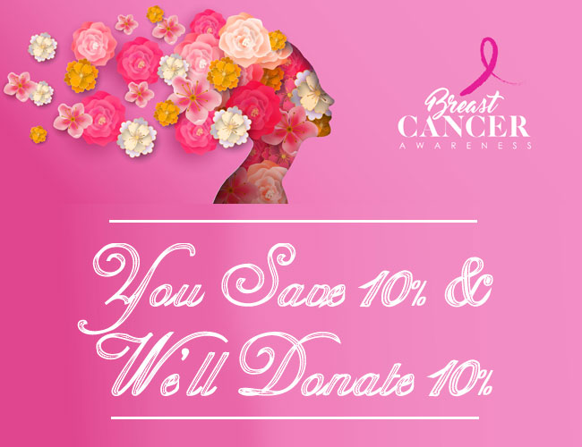 This Week Only: You Save 10%, We donate 10%