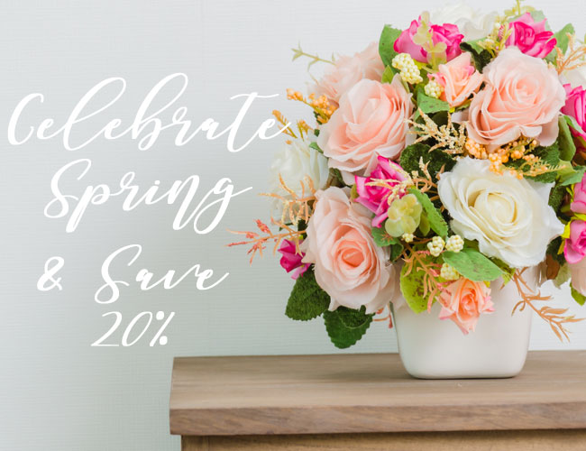 Save 20% on All Flowers
