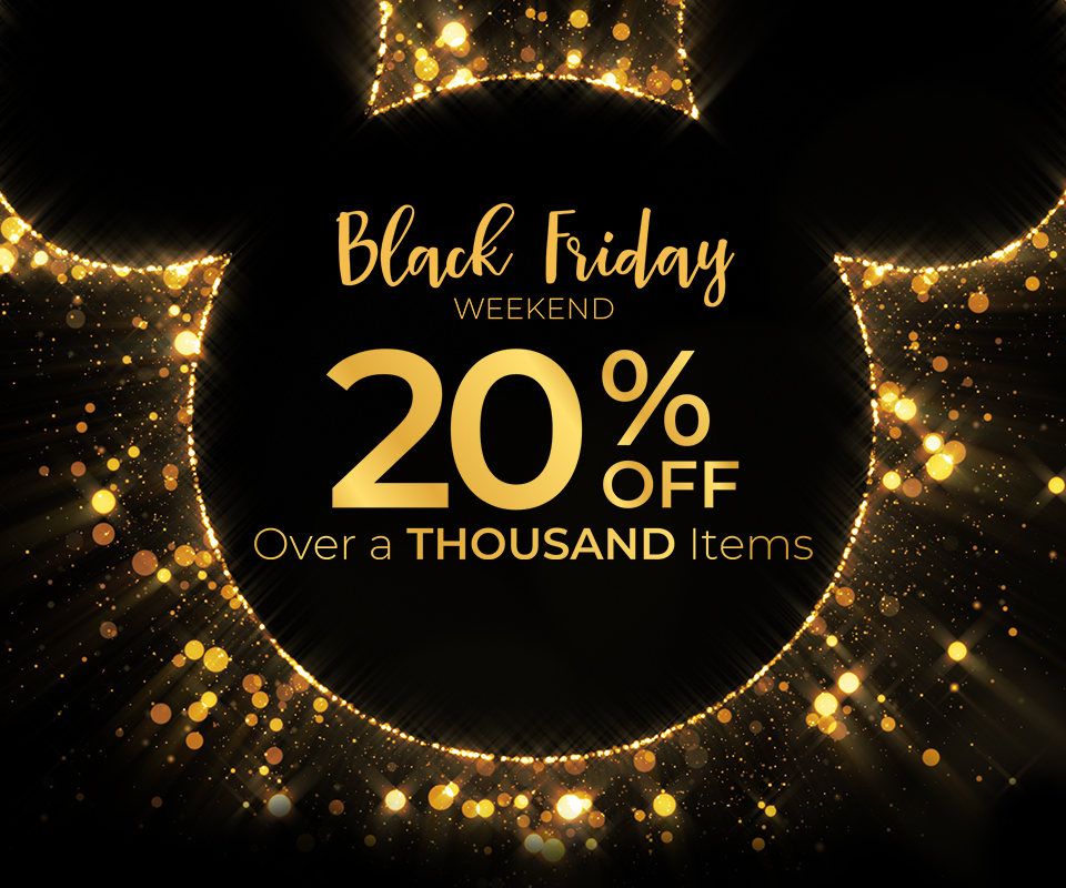 Black Friday Weekend - 20% off over a thousand items