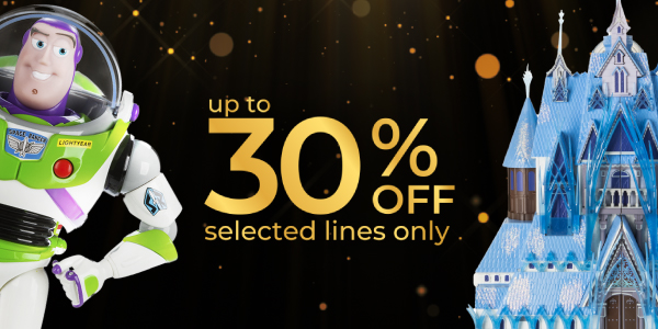 up to 30% off selected lines only