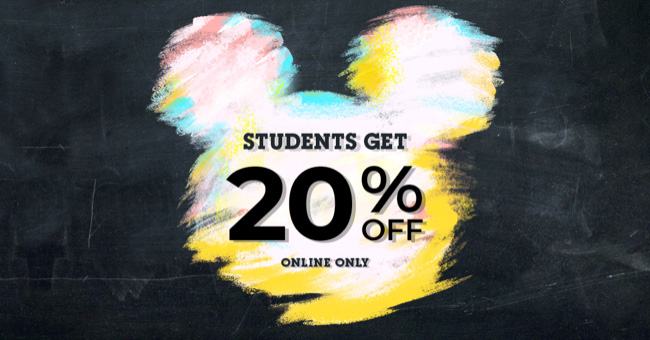 Students get 20% off - Online Only