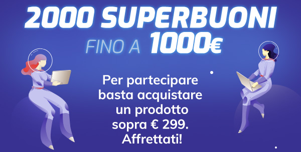 In palio 2000 Superbuoni fino a 1000€