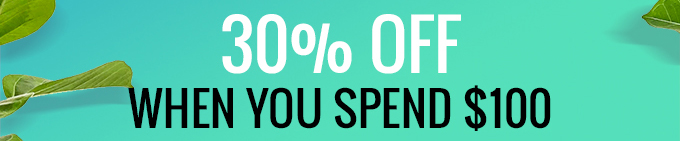 30% Off When You Spend $100