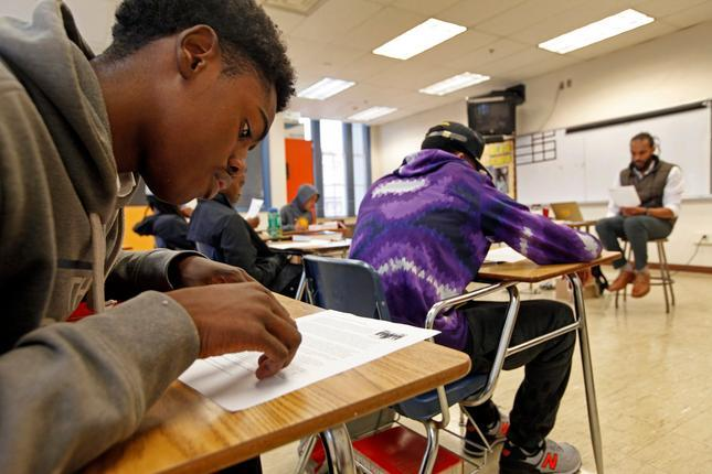 Black students in Oakland classroom