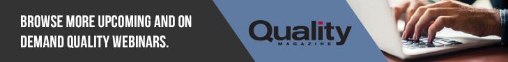 Quality Magazine Webinars