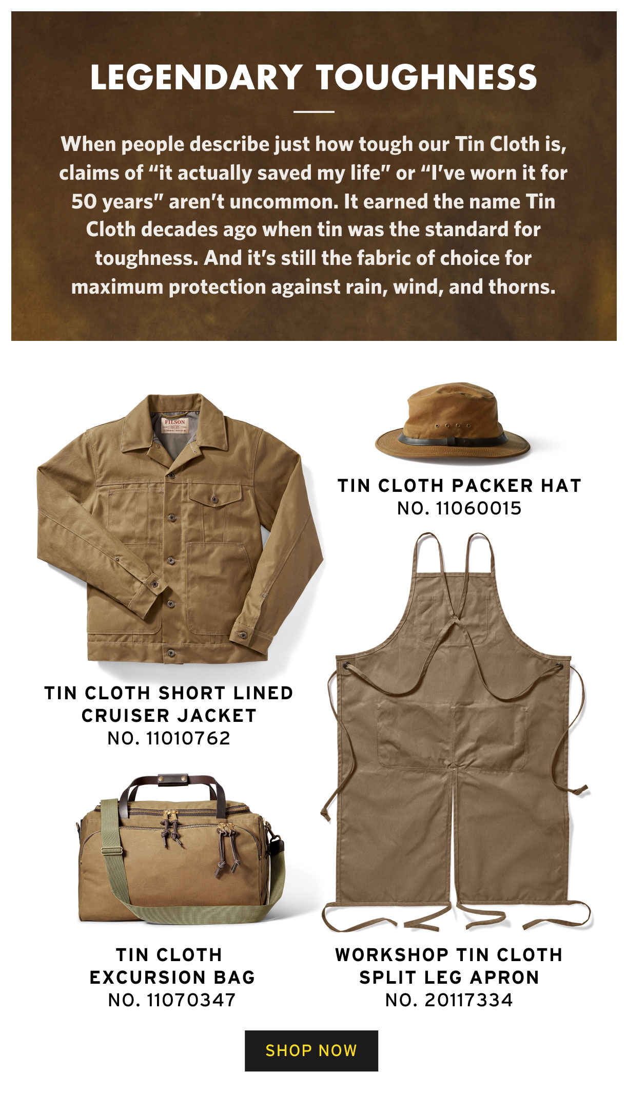SHOP TIN CLOTH