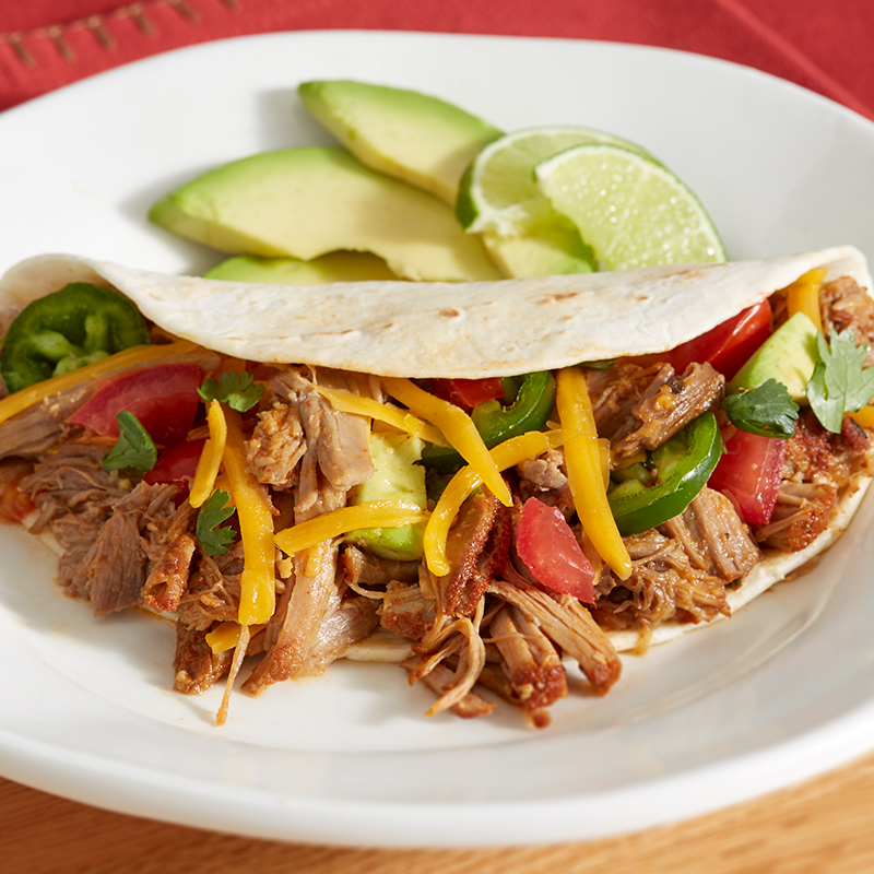 Multi Cooker Pork Carnitas Tacos
