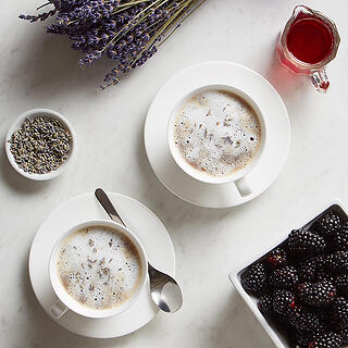 Lavender Blackberry Latte