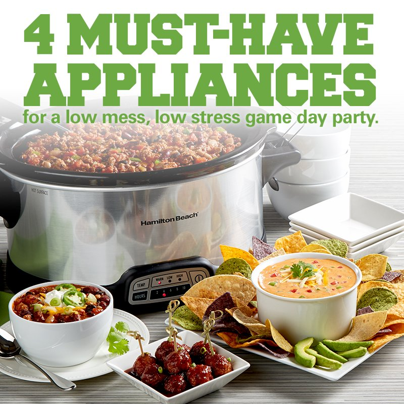 4 must-have appliances for a low mess, low stress game day party.