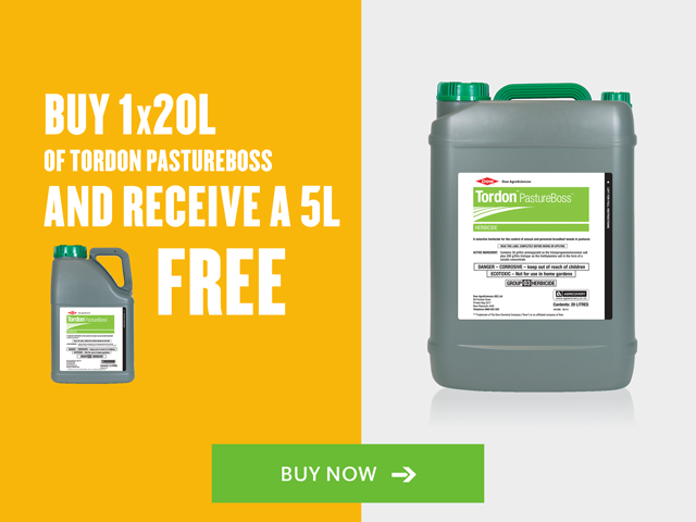 Buy 20L of PastureBoss and get 5L free