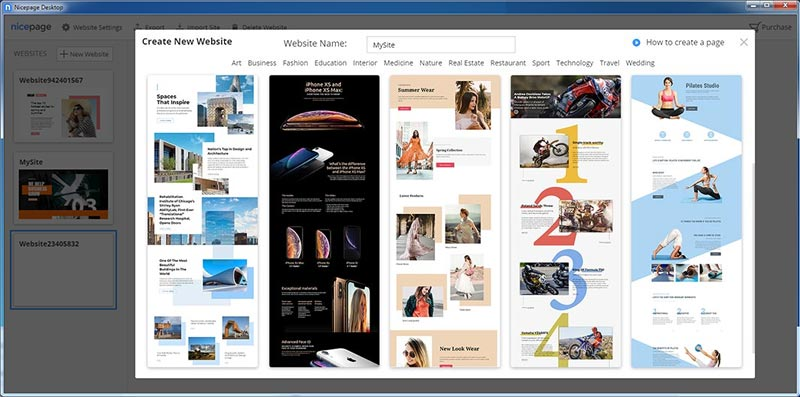 Nicepage web pages design