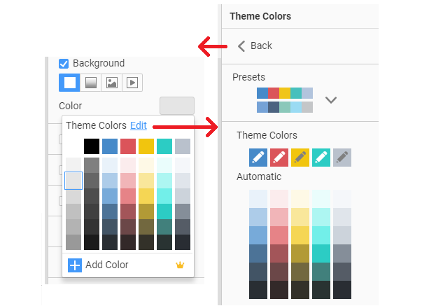 Quick Access to Theme Colors