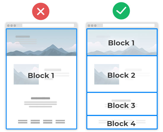 Use more Sections on a page