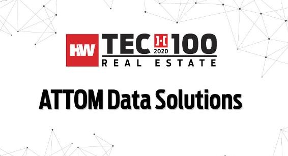 ATTOM - 2020 HW Tech100 Award