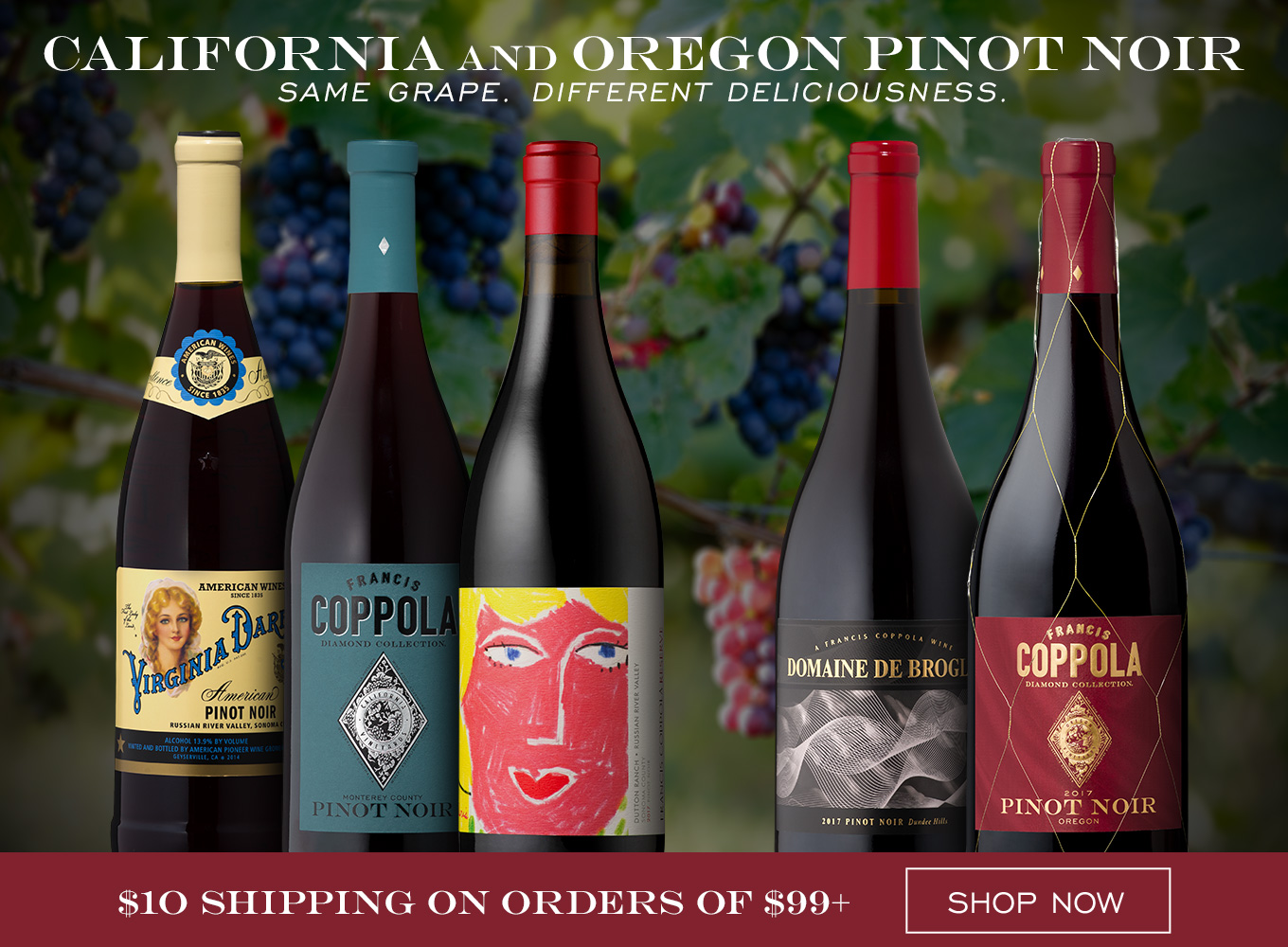 California and Oregon Pinot Noir: Same Grape. Different Deliciousness.