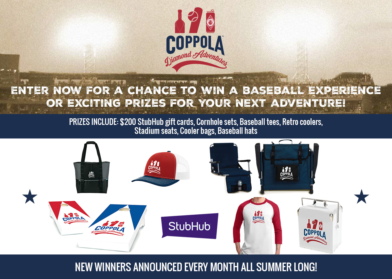 Enter now for a chance to win a baseball experience or exciting prizes for your next adventure!