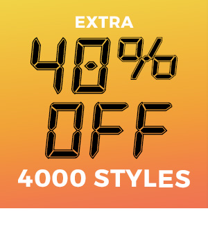 Extra 40% off 4000 Styles