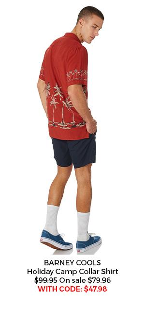 Barney Cools Holiday Camp Collar Shirt