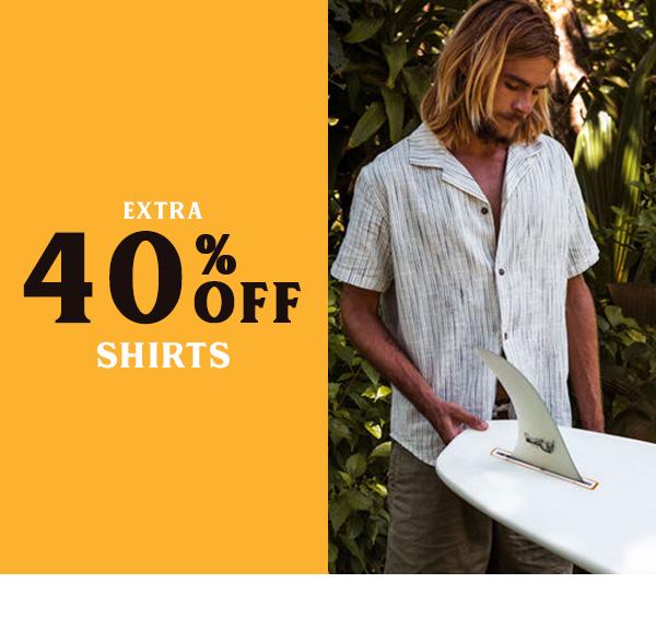 Extra 40 percent off Shirts