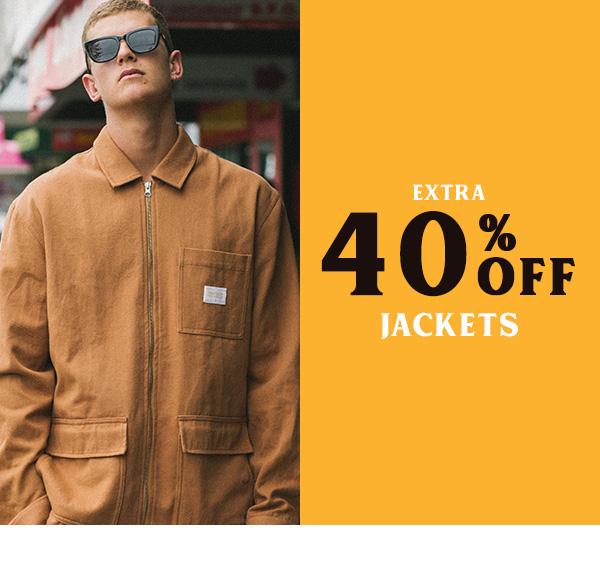 Extra 40 percent off Jackets