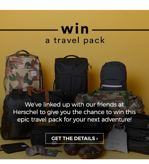 Win a travel pack from Herschel.