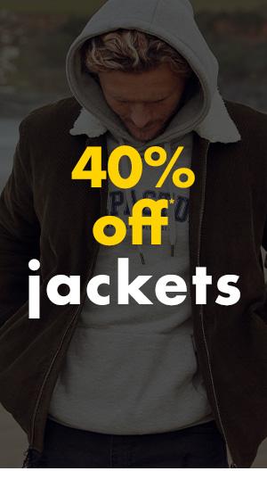40 percent off Jackets