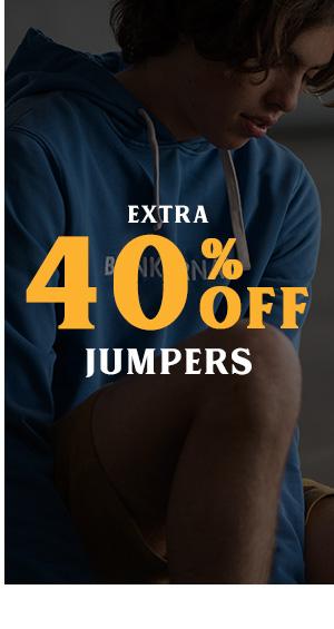 Extra 40 percent off Jumpers