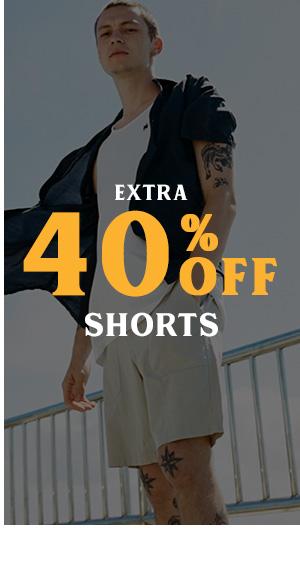 Extra 40 percent off Shorts