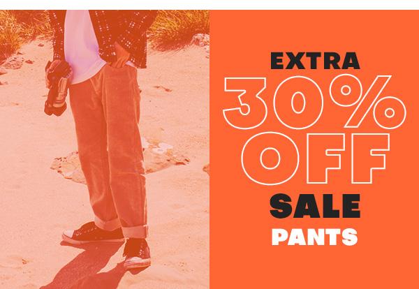 Extra 30 percent off sale PANTS