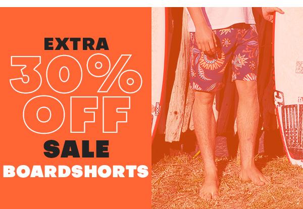 Extra 30 percent off sale BOARDSHORTS