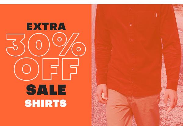 Extra 30 percent off sale SHIRTS