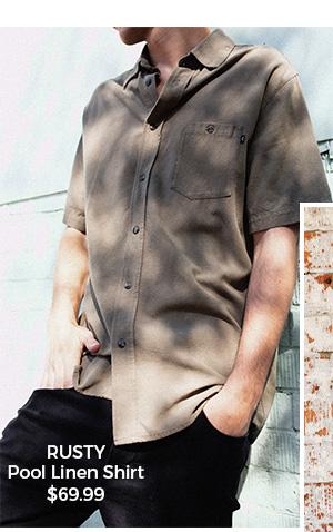 Rusty Pool Linen Shirt