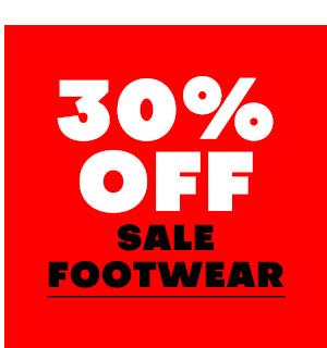30% off sale Footwear