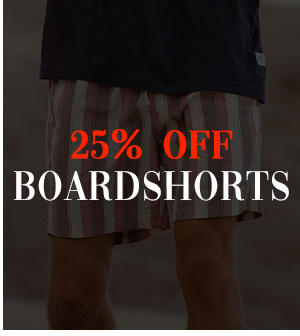 25 percent off Boardshorts