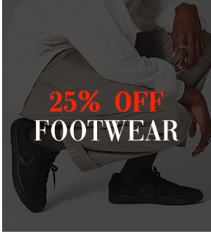 25 percent off Footwear
