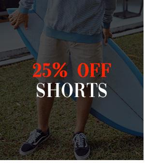 25 percent off Shorts