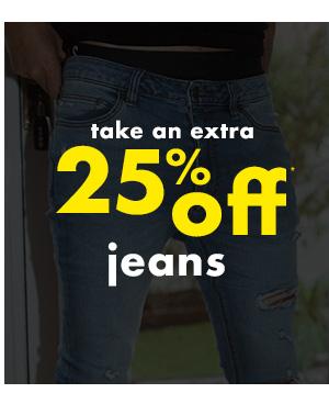 20 percent off jeans