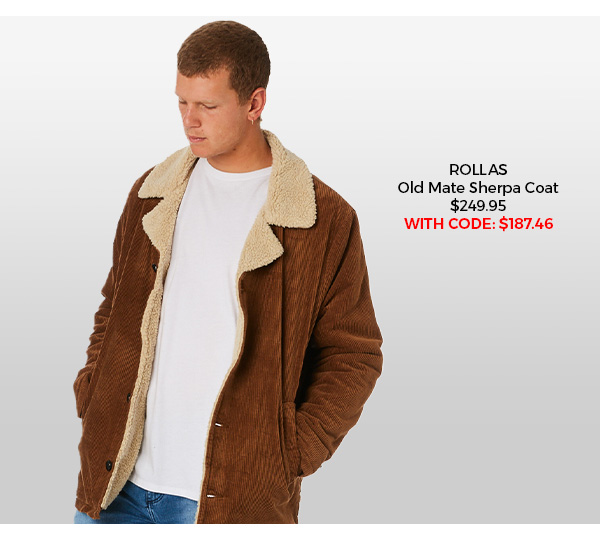 Rollas Old Mate Sherpa Coat