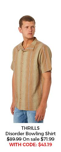 Thrills Disorder Bowling Shirt