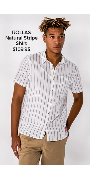 Rollas Natural Stripe Shirt